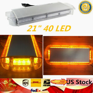 Roof Work 40led Yellow Amber Light Emergency Warning Truck Lamp Strobe Flash Bar