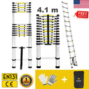 13 45ft Aluminum Multi purpose Telescopic Ladder Extension Folding Step En131 Us