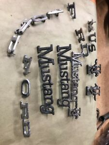 Vintage 1960 S Ford Mustang Emblems Lot