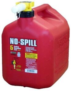 5 Gallon Gas Can No Spill Plastic Gasoline Tank Caddy Fuel Container Spout Cover