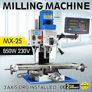 Mx 25 Vertical Bench Top Milling Machine High Accuracy 50 2250 Rpm Chain Wire