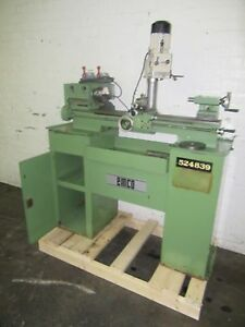 Emco 8 6 Lathe Long bed 4 13 X 23 7 With Maximat 7 4 speed Milling Head