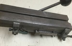 Hardinge Lever Operated Double Tool Cross Slide For Model 59 Split Bed Lathe