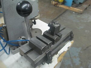 Hardinge Lever Operated Double Tool Cross Slide Model Dv 7