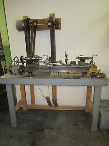 Antique B c Ames Watchmaker s Clockmaker s instrument Maker s Precision Lathe