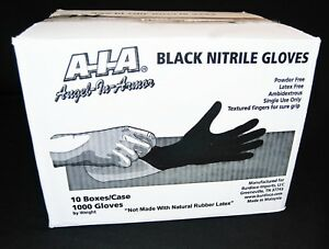 Black Nitrile Gloves 6 Mil Powder Free Case Of 1000 L Large Mechanics