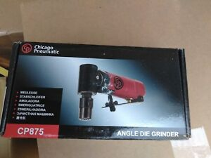 Chicago Pneumatic Mini Angle Die Grinder 22 500 Rpm 1 4 Collet Cp875