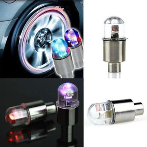 Waterproof Flash Bua2 Bicycle Car Wheel Tire Tyre Valve Cap Neon Lamp Led Lights