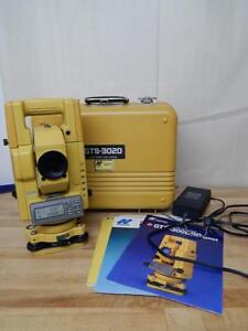 Topcon Gts 300 Total Station Land Survey Equipment W Case Manuals