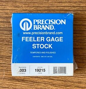 Precision Brand Thickness Feeler Gage Stock Roll 003 X 25 X 1 2 19215