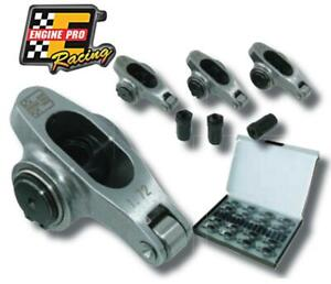 Chevy 350 Chrome Moly Steel Roller Rocker Arm Kit 3 8 1 5 1 Ratio