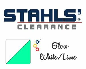 15 X 5 Yards Stahls Glows In The Dark Heat Transfer Vinyl Htv White lime