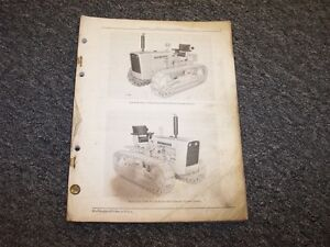 John Deere 2010 Diesel Crawler Tractor Original Parts Catalog Manual Pc728