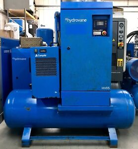 Hydrovane Hv05 Receiver Mounted Rotary Vane Compressor With Filters