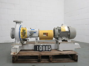 Sulzer Pump Model Apt22 2b Size 4x2 5 11 Unused With Base And Motor