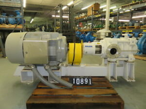 Sulzer Multistage Ring Section Pump Model Mbn50 215 04 With Base And Motor