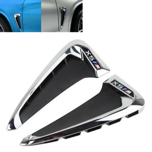 2xside Marker Fender Air Wing Vent Trim Cover Chrome For 2014 Bmw F15 X5 X5 35i