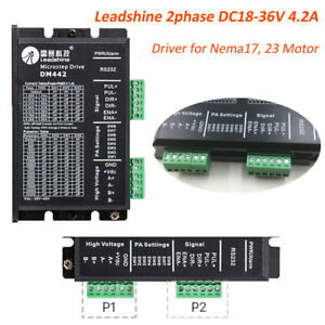 2phase Stepper Driver Dc18 36v 4 2a Controller For Nema17 Nema23 Motor Leadshine