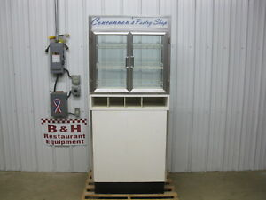 31 Self Serve 2 Door Glass Bakery Donut Dry Display Show Case