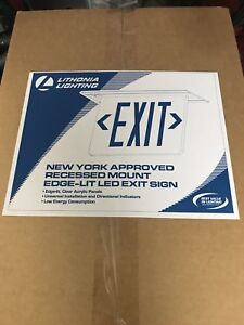 Lithonia Lighting Emergency Exit Sign Edgrny 2r Elm4
