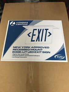 Lithonia Lighting Led Emergency Exit Sign Edgrny 1r Elm4
