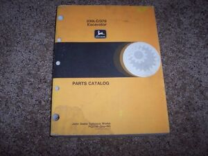 John Deere 330lc 330 Lc 370 Excavator Parts Catalog Manual Manual Book Pc2706