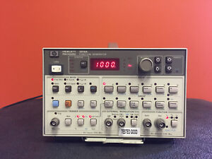 Hp Agilent 3314a 1 To 20 Mhz 3 5 Digit Resolution Function Generator Tested
