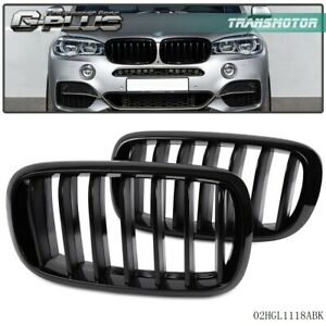 For Bmw F15 X5 F16 X6 X Series 2014 Front Bumper Kidney Grille Glossy Black