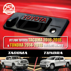 2 Sets Toyota Tundra Tacoma Red Tailgate Handle Letters Decal Vinyl Sticker