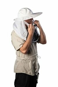 Forest Beekeeping Supply Beekeeping Veil With Round Hat And Pull down Combo F