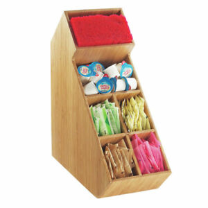 Cal Mil Coffee Condiment Organizer Bamboo 27819