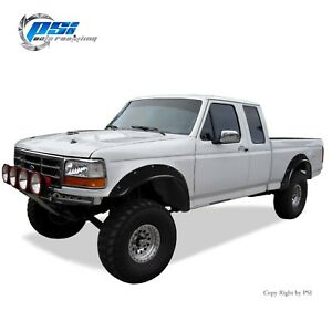 Black Paintable Pocket Bolt Fender Flares 92 96 Ford F 150 F 250 F 350 Bronco