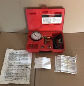Snap on Tools Fuel Injection Pressure Gauge Set Mt337a With Paperwork