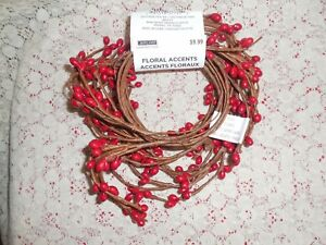 Red Primitive Pip Berry Garland 5 Nwt Christmas Everyday Crafts Or Decor