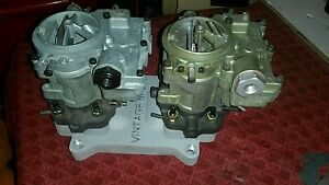 Vintage Speed 2x2 Adaptor To 4bbl W 2 2gc Rochester Carbs