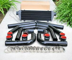 8 Pieces 2 5 Black Piping Black Silicone Coupler T Blot Clamp Intercooler Kit
