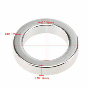 Super Strong Ring Round Magnets 22mm X 4mm Hole 16mm Rare Earth Neodymium N52
