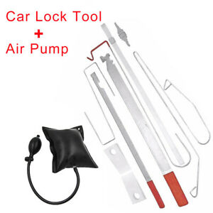 Universal Car Door Open Key Lost Lock Out Emergency Unlock Tool Kit W Air Pump