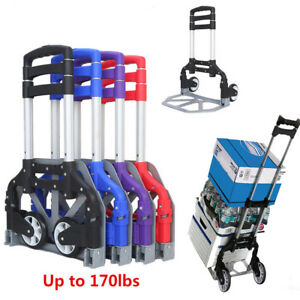 Aluminium Cart Folding Dolly Push Truck Hand Collapsible Trolley Luggage Moving