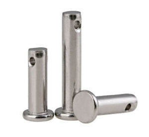 M3 M4 M5 A2 70 Stainless Steel 304 Flat Head Clevis Pins With Hole