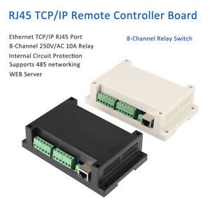 250v Ethernet Tcp ip Rj45 Port Remote Controller 8 Channel Relay Integrated Web