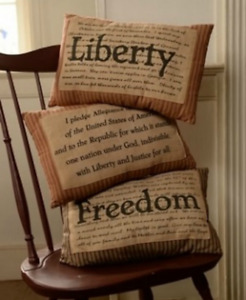 Primitive Country 3 Set Americana Pillows July 4 Patriotic Liberty Freedom