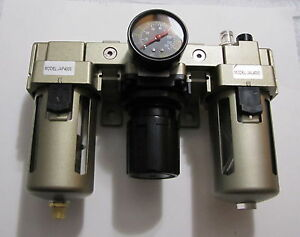 New 3 4 Npt Compressed Air Filter Pressure Regulator Lubricator Combo Frl