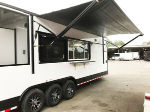Food Truck Concession Catering Bbq Trailer With Smoker Bathroom Turn Key