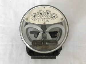 Antique G e Electric Meter Single phase Watthour Meter Type I 16
