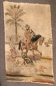 Vintage French Petit Point With And Arab On A Horse