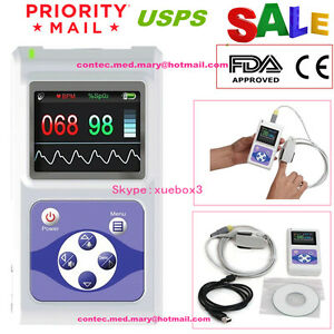 Ce Fda Contec Hand held Lcd Finger Pulse Oximeter Spo2 Pr Oximetry software