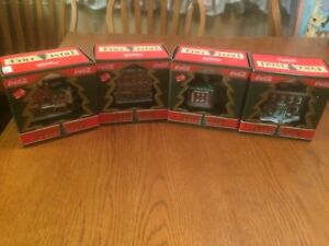 Coca-Cola Trim A Tree Collection set of 4-Jacobs Pharmacy,1930s Service St. ....