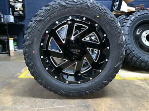 20x10 Moto Metal Mo988 Black Wheel And Tire Package 35 Fuel Mt 6x135 Ford F150