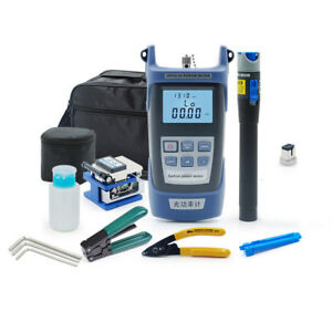 Cleaver Fiber Optical Power Meter Visual Fault Locator Cable Tester Kit Power